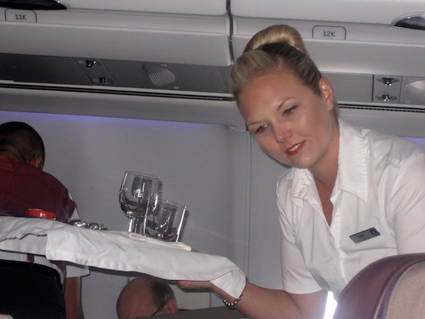 Virgin service with a smile