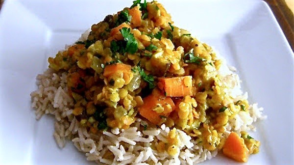 Coconut Curried Lentils (1)