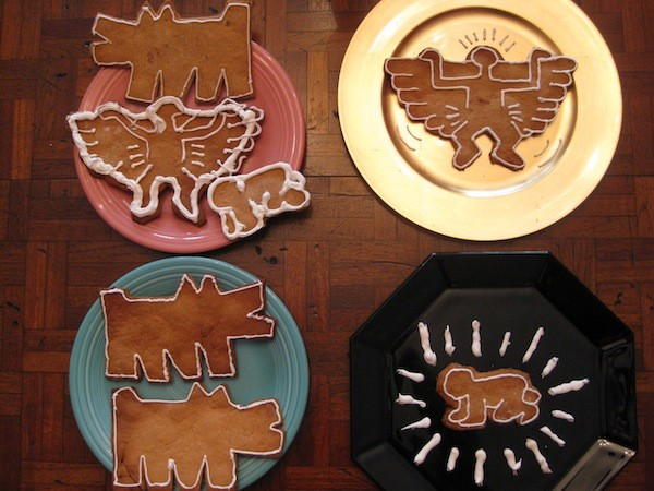 Keith Haring Gingerbread Cookies