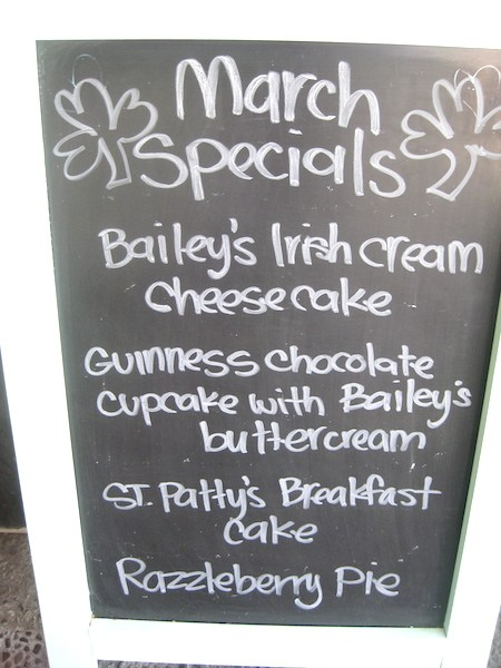 St. Paddie's Day on the menu