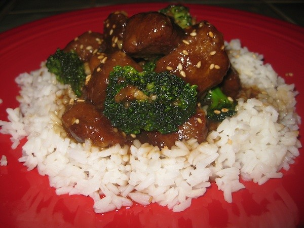 Vegan Beef with Broccoli