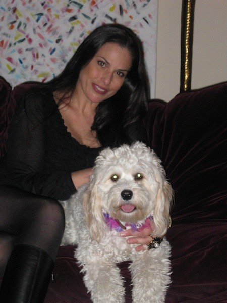Julie Anne Rhodes and dog, Daisy