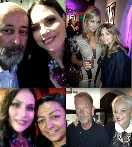 Richard Young, Jewels, Lady Victoria hervey, Amanda Kyme, Yassi, Jack English and Amanda Eliasch