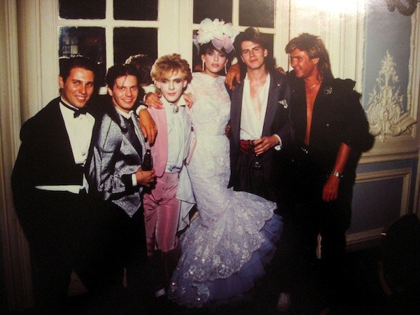 Julie Anne Rhodes with Duran Duran on her wedding day