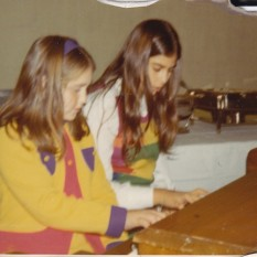 Making music with my cousin, Martha