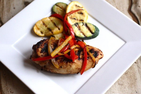 Fusion Chicken with Grilled Vegetables