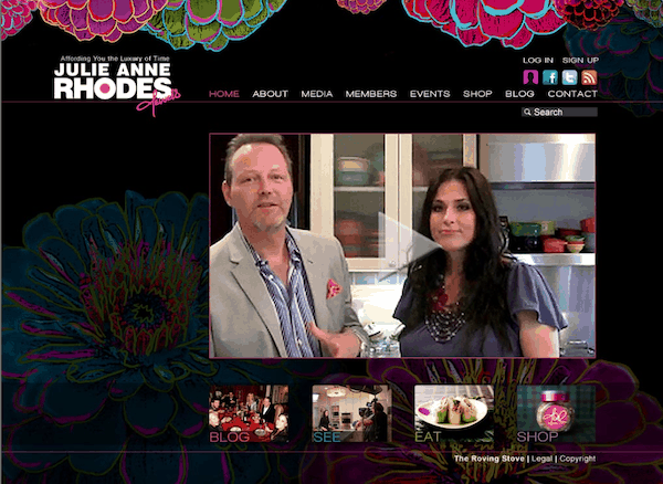 Original homepage of JulieAnneRhodes.com