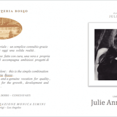 Eau de Vie Julie Anne grappa label