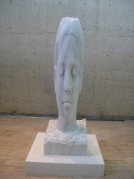 Marble sculpture by Jaume Plensa of Alexandra