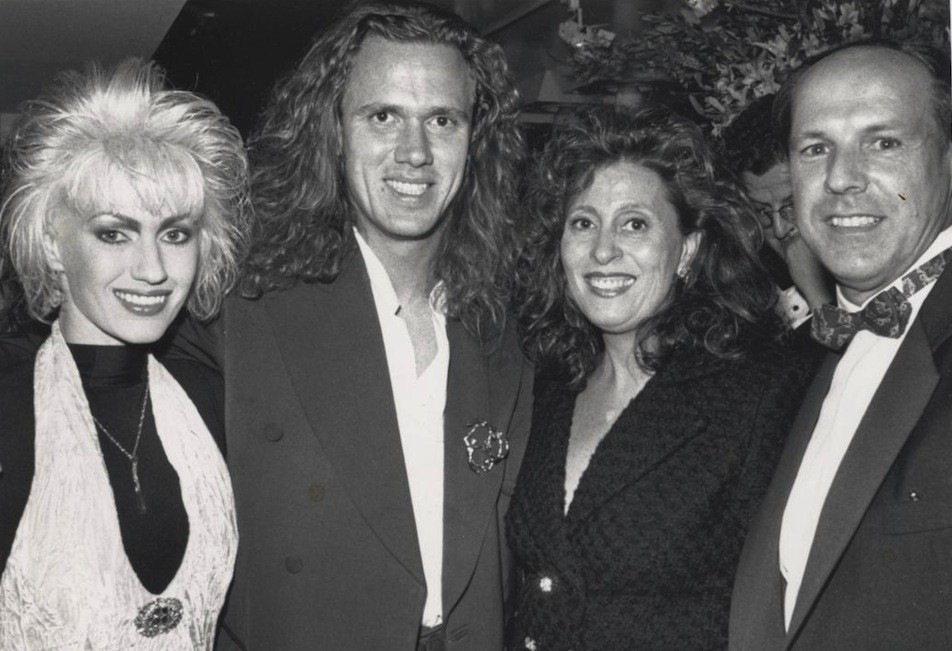 Alison and Roy Hay with Ann and Dave Glew, President of Epic Records