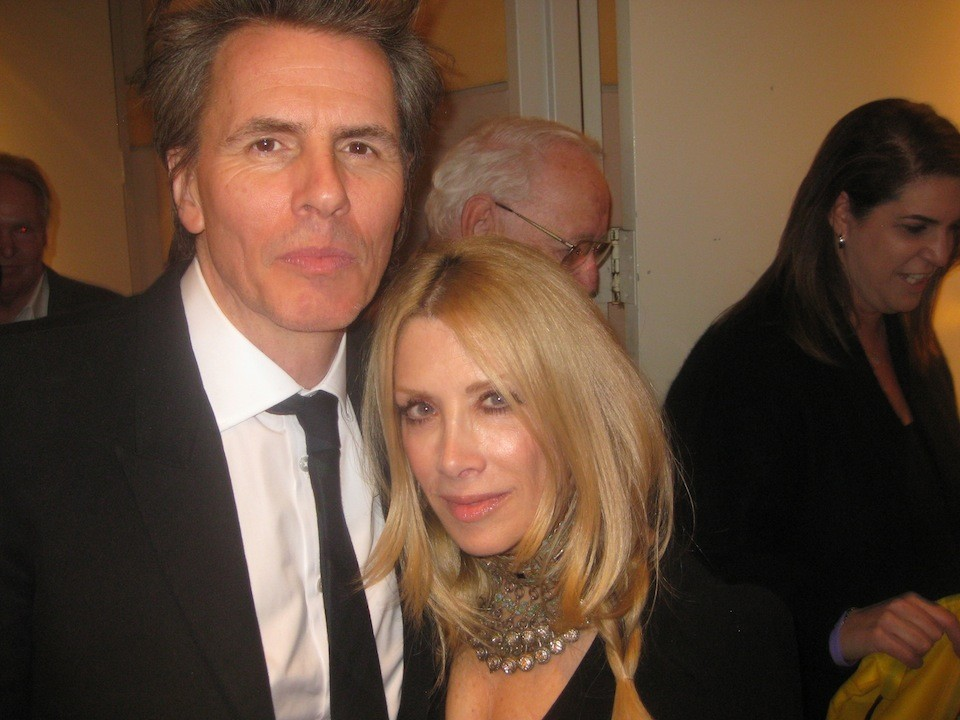 John with his wife stunning and equally dynamic wife Gela Nash Taylor