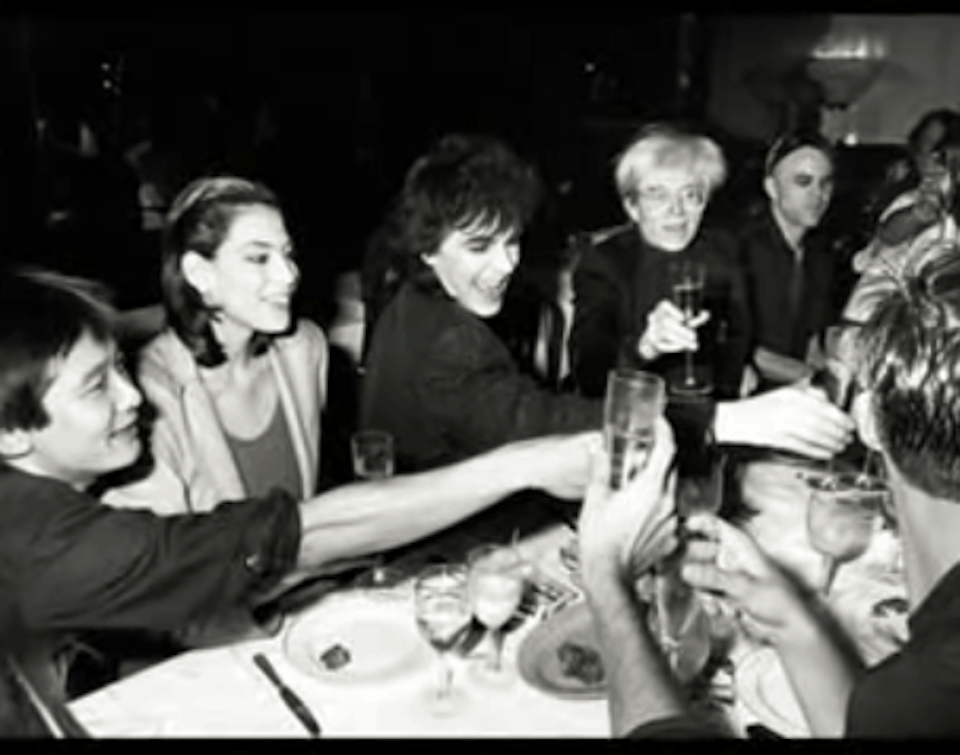 Toasting Andy Warhol's birthday