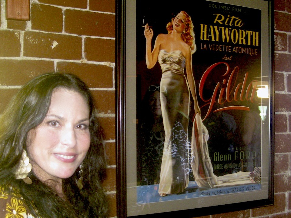 Hanging out with Rita Hayworth in Orson Wells house