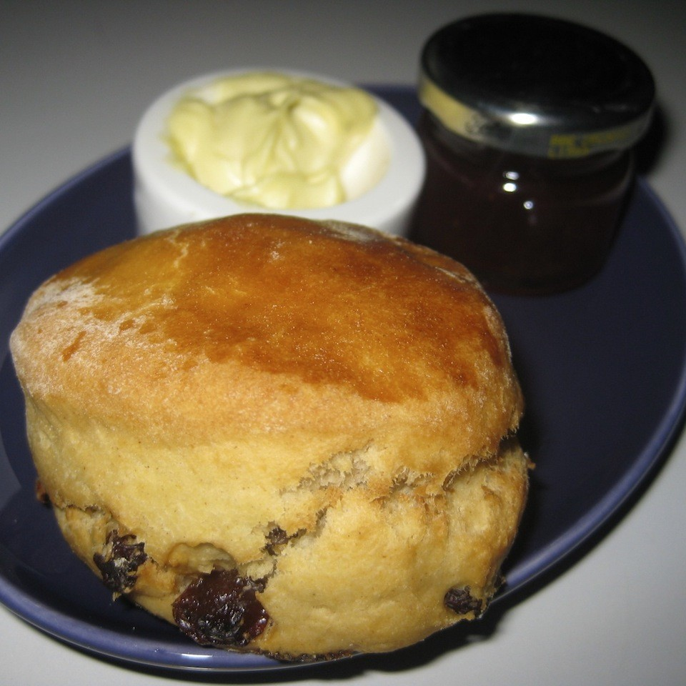 Best part of flying a British airline - scones are served before you land