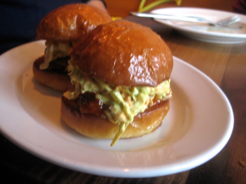 Barbecue Pork Belly Sandwiches, slaw