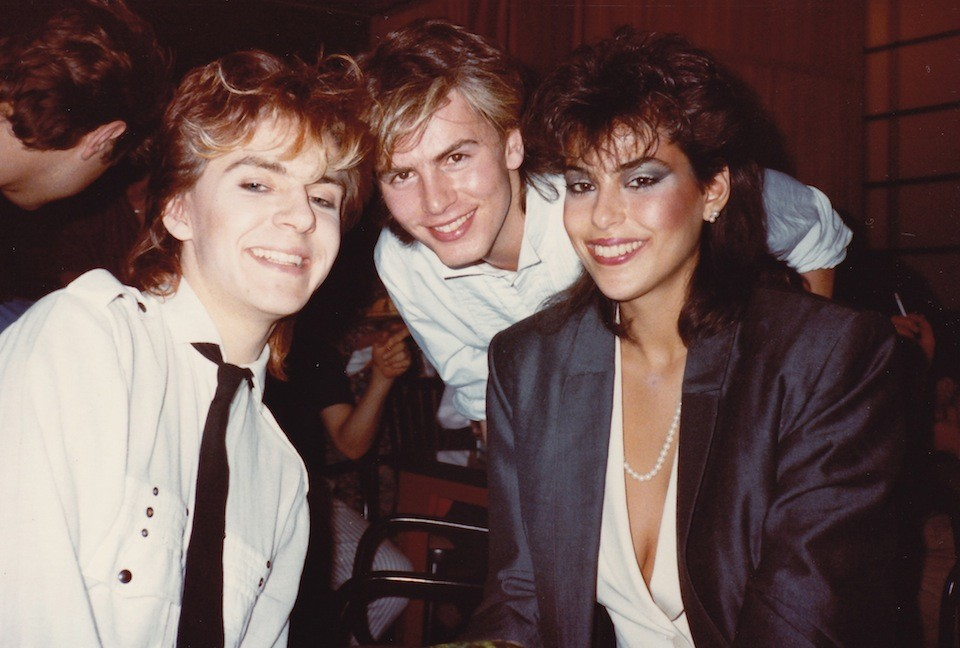 Nick Rhodes, John Taylor, and Julie Anne Firedman