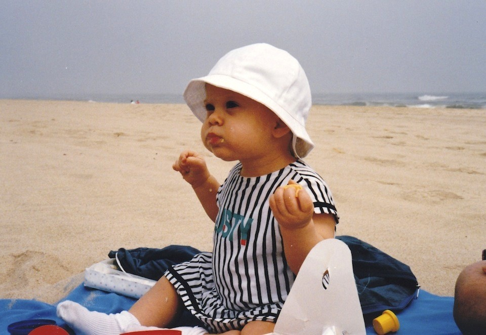 Tatjana and her first picnic on the beach