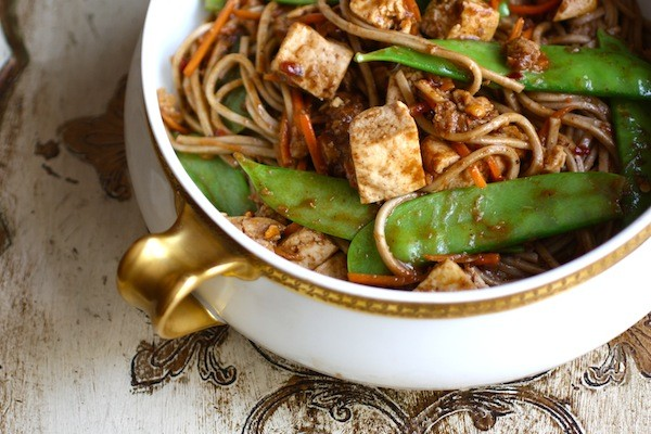 Soba Noodles with Tofu & Snow Peas