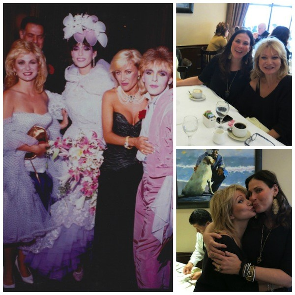 My wedding day with Debbie Arnold, Angie Best, and Nick Rhodes