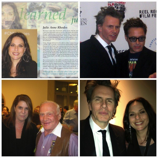 With John Taylor, Robert Downey Jr., and Buzz Aldren