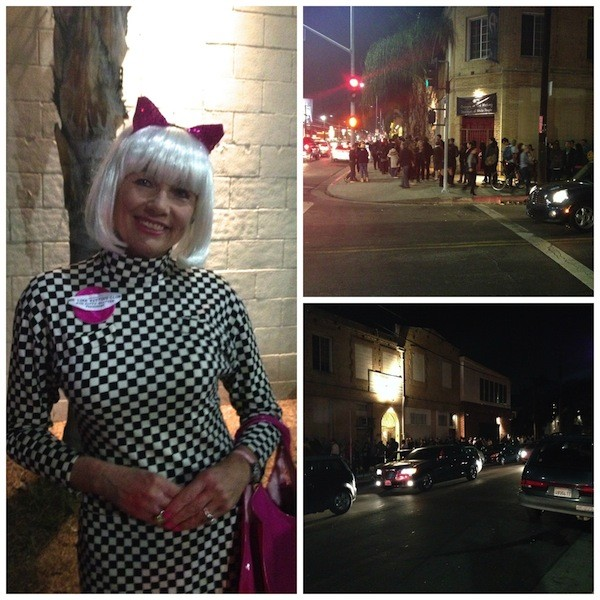 People dressed for the occasion & stood in a line that went way around the block