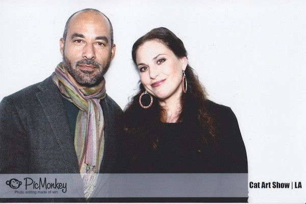 Marc Gomes and Julie Anne Rhodes at Cat Art Show LA