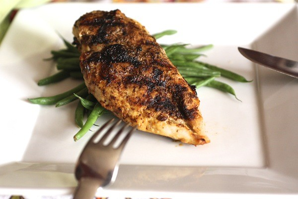 Kicking up the flavor with Roasted Garlic & Chili Rubbed Grilled Chicken