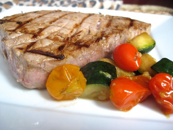 Simple Marinated Grilled Tuna
