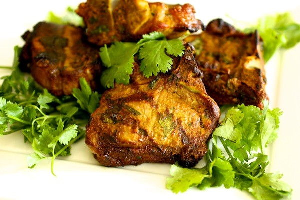 Curry Rubbed Grilled Lamb Chops