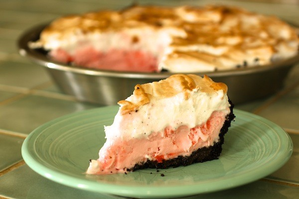 Peppermint Stick Ice Cream Pie