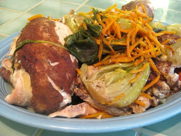 Slow-Cooked Five Spice Chicken: use the slow-cooker, oven, and stovetop simultaneously