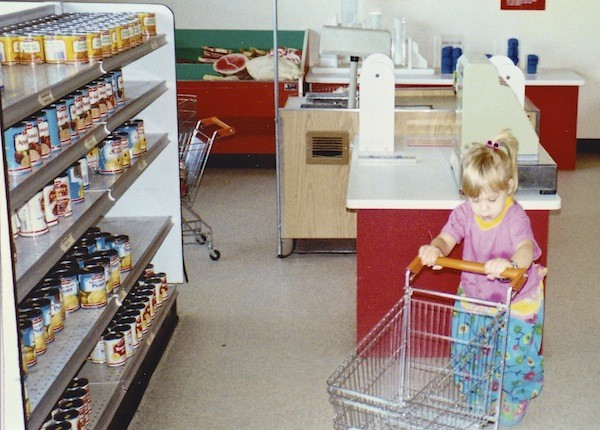Tatjana Rhodes learning to grocery shop