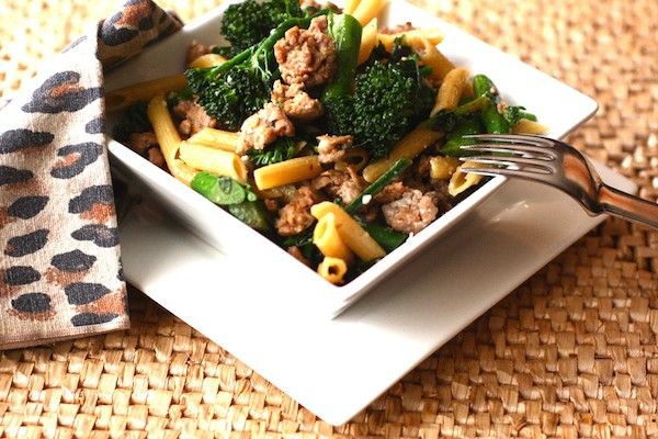 Hot Italian Turkey Sausage & Broccolini Penne