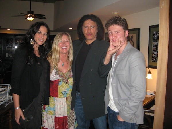 Backstage with Lee, Gene Simmons, and Sam Bradley