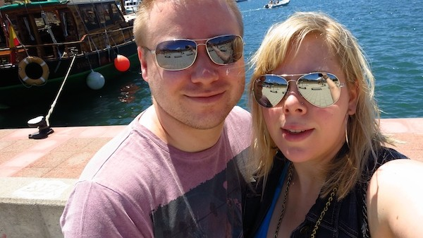 Aaron and Tatjana - selfies for Mum