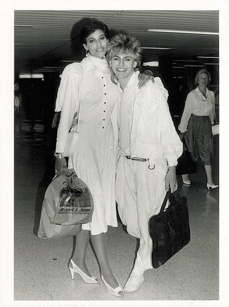 Julie Anne and Nick Rhodes returning from their honeymoon