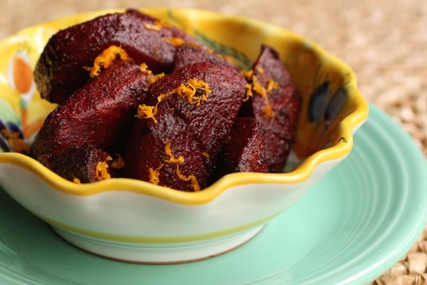 Orange Scented Beet Salad: Roasting vegetables brings out the natural sugars