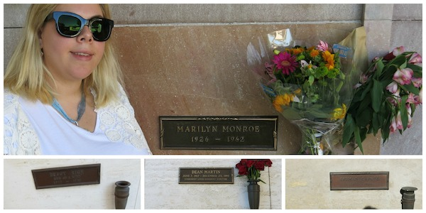 Tatjana paying her respects to Marilyn Monroe