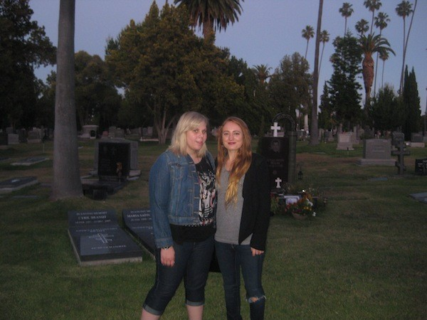 Tatjana Rhodes & Millie Brown at Hollywood Forever Cemetery