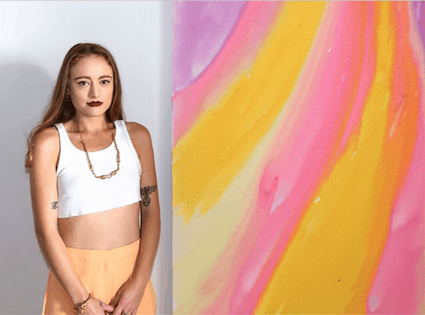 Mille Brown and her Rainbow Body Exhibition