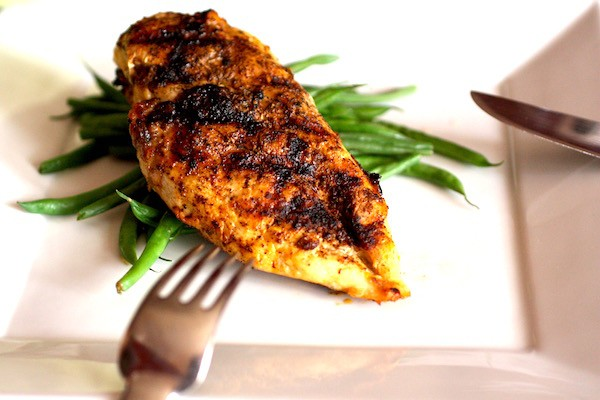 Roasted Garlic & Chili Grilled Chicken Breast.