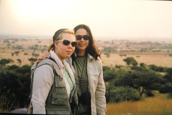 On safari with Tatjana in 2004